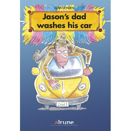 Jasons´s  dad washes his car